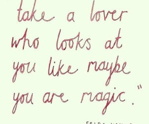 frida kahlo, love, and magic image