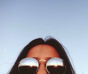 beautiful, summer, and sunglasses image