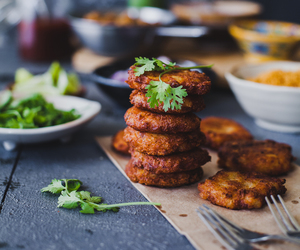 fritter, indian food, and potato image