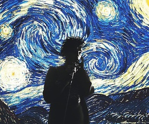 starry night, van gogh, and art image