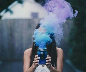 blue, smoke, and purple image