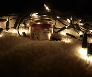 aesthetic, candle, and christmas image