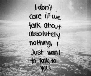 love, quotes, and talk image