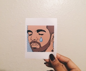 Drake, art, and cry image