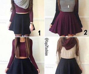 outfit, skirts, and winter image