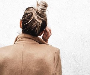 hair, style, and bun image