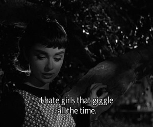 audrey hepburn, quotes, and giggle image