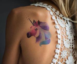 unicorn and tattoo image