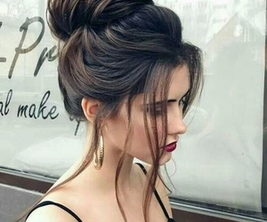 chic, girls, and messy bun image