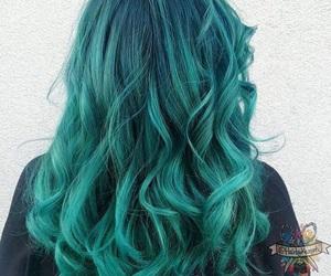 alternative, beauty, and blue hair image