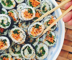 food, sushi, and vegan image