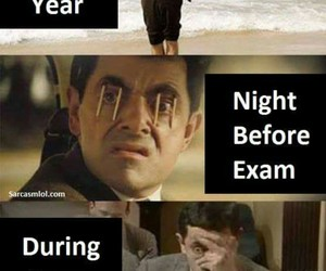 exam, funny, and mr bean image