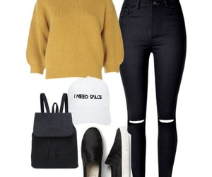 outfit, pants, and Polyvore image