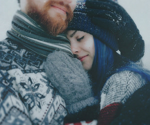 love, blue, and winter image