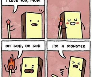 funny, fire, and mom image