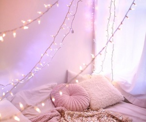 pink, bedroom, and christmas image