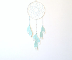 etsy, mint green, and wall hanging image