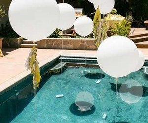 balloons, poolparty, and decor image