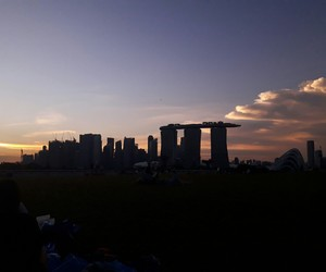 clouds, silhouette, and singapore image