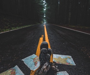 adventure, rain, and feet image