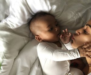 saint west and baby image