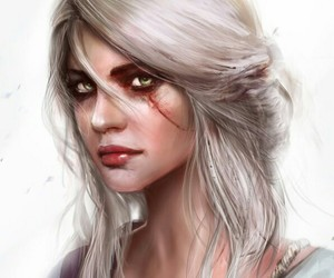 ciri, the witsher, and the+witcher image