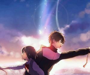 anime, kimi no na wa, and fanart image