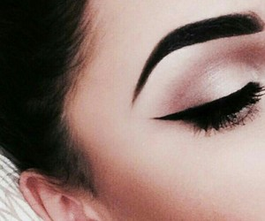 makeup, eyebrows, and eyeliner image