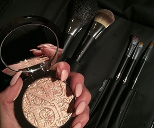makeup, nails, and Brushes image