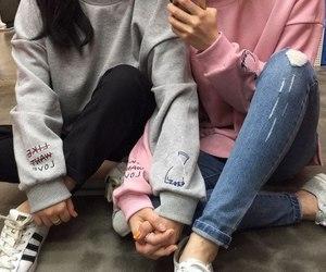 girl, couple, and aesthetic image