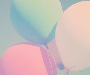 pastel, balloons, and wallpaper image