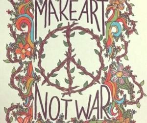 art, peace, and war image
