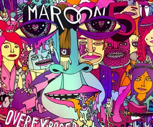 maroon 5, overexposed, and music image