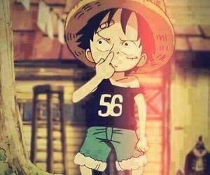 anime, one piece, and luffy image