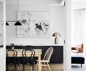 black, dining room, and Scandinavian image