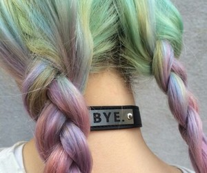 braids, bye, and colorful image