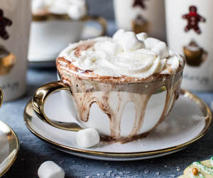 chocolate, drink, and christmas image