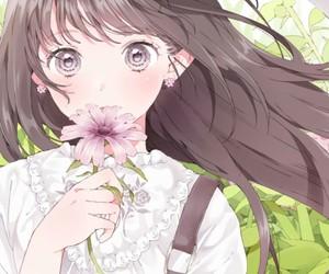 anime, baby girl, and illustration image
