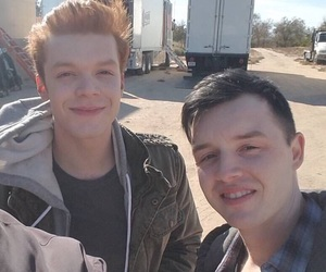 shameless, ian gallagher, and mickey milkovich image