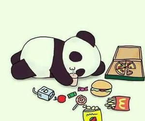 panda, food, and kawaii image
