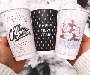 christmas, coffee, and drinks image
