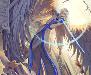 anime, yue, and angel image