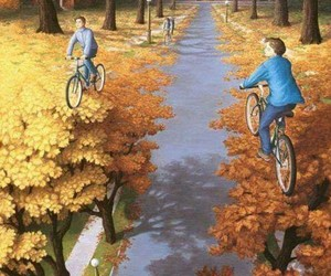 art, autumn, and painting image
