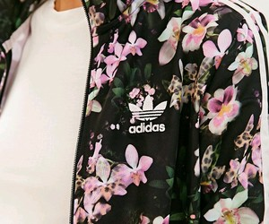 adidas, flowers, and jacket image