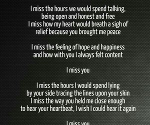 couples, i miss you, and love text image