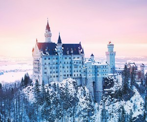 castle, landscape, and winter image
