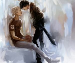 solangelo, percy jackson, and will solace image
