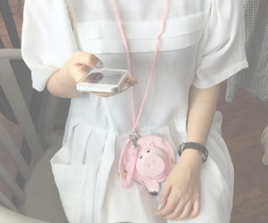 accessories, necklace, and pig image