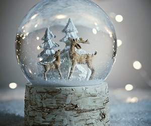 christmas, december, and deer image