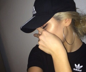 adidas, girl, and black image